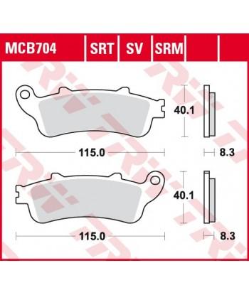 Stabdžių trinkelės MCB704SV