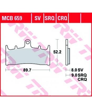 Stabdžių trinkelės MCB659SRQ