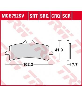 Stabdžių trinkelės MCB792SRQ