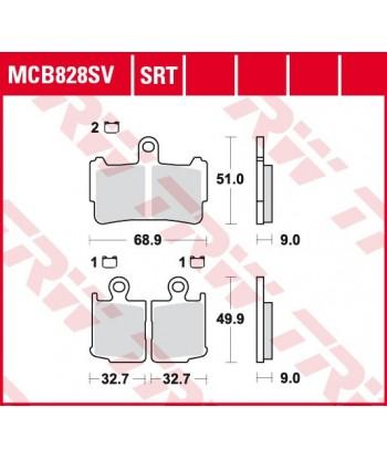 Stabdžių trinkelės MCB828SV