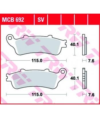 Stabdžių trinkelės MCB692SV