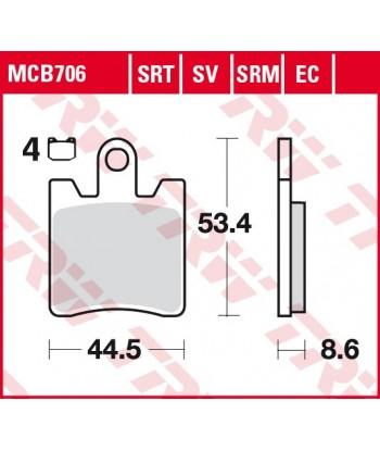 Stabdžių trinkelės MCB706
