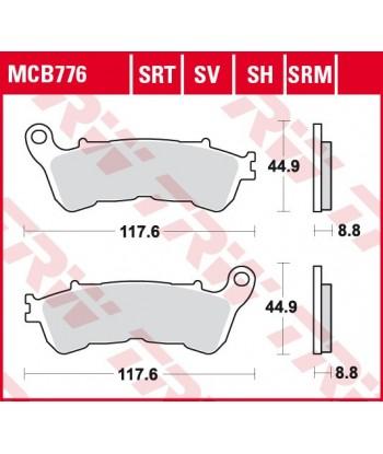 Stabdžių trinkelės MCB776SRT