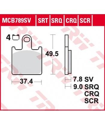 Stabdžių trinkelės MCB789SRT