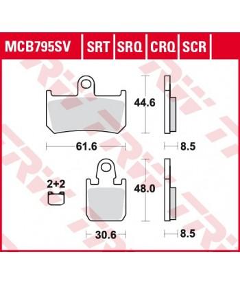 Stabdžių trinkelės MCB795SRT