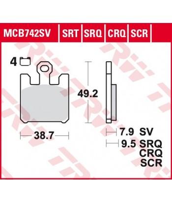 Stabdžių trinkelės MCB742CRQ
